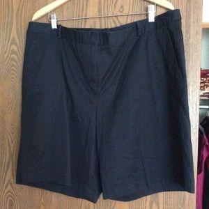 Talbots Black Shorts Size 20W NWT